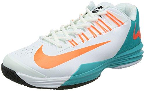 Nike Lunar Ballistec - Zapatillas de tenis para hombre, color blanco/azul/naranja, UK12