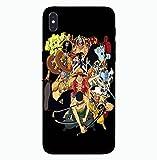 Carcasa de Telefono,Funda para iPhone One Piece/Dragon Ball con Cordón Funda para Teléfono Anime Brillo Nocturno Tapa Trasera De Vidrio Templado (Compatible con iPhone X) Color B