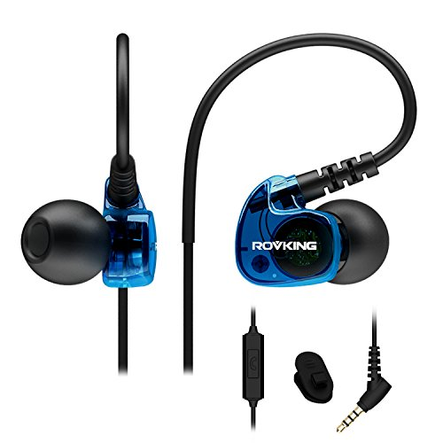 ROVKING Sweatproof Sports Workout Earphones for Running Gym Jogging Wired...