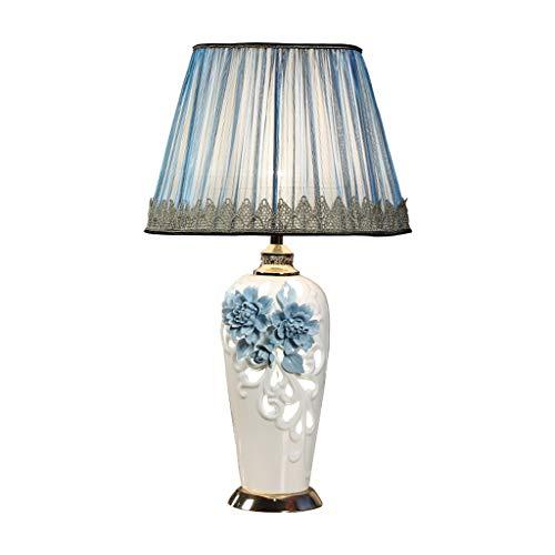 SHUTING2020 lámpara de Mesa Lámparas LED Decoradas con Flores, adecuadas for mesas de Noche, Sala de Estar - Iluminación 360 Lámpara Noche (Color : Blue, Size : Remote Control switches)