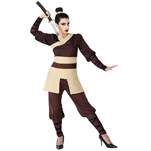 Atosa 66092 Disfraz Guerrera China M-L Mujer Marrn