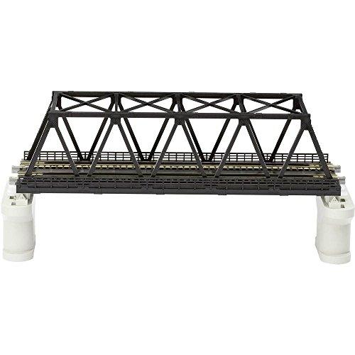 KATO 7077212 - Kato - Unitrack Gleis - Kastenbrücke schwarz 2-gleisig mit Gleis 248 mm