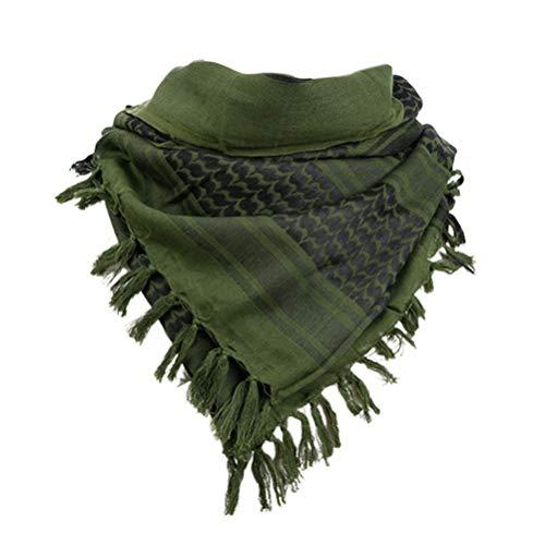 LIOOBO bufanda de algodón militar cuadrado bufanda de cuello árabe transpirable bufanda palestina bufanda para viajes al aire libre