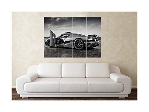 """Großes Poster """"Koenigsegg CCX"""", Kunstdruck eines Sportwagens"""