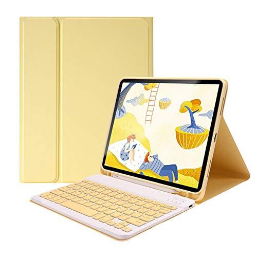 Chnrong Funda para tablet con teclado, 10,2 pulgadas con ranura para lápices, funda para tablet con tapa magnética plegable, funda para teclado para iPad 2020/iPad 2019/iPad Air 3/iPad Pro 10,5