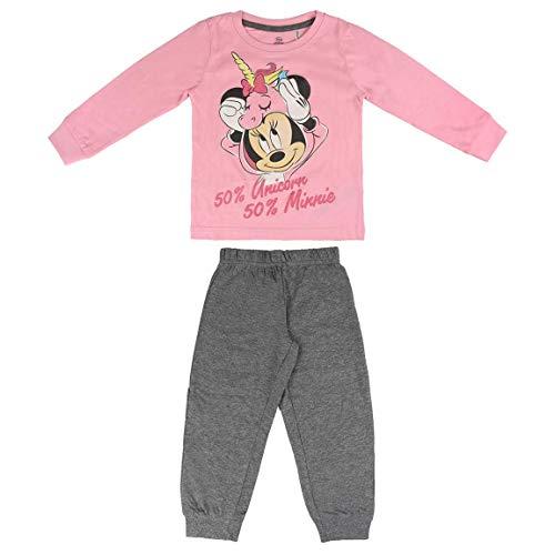 Artesania Cerda Pijama Largo Single Jersey Minnie Conjuntos, Rosa (Rosa C07), 3 Años para Niñas