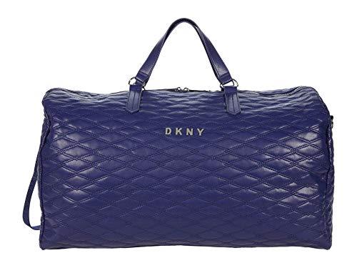 DKNY Quilted Softside Luggage, Indigo, One Size