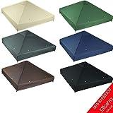 freigarten.de Toiture de rechange pour pavillon 3 x 3 m - en matériau étanche : Panama PCV Soft 370 g/m2 modèle 2 super résistant vert
