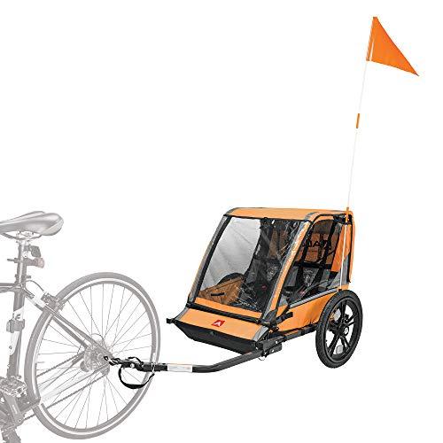 Allen Sports Hi-Viz 2-Child Bicycle Trailer, Model ET2-O, Orange