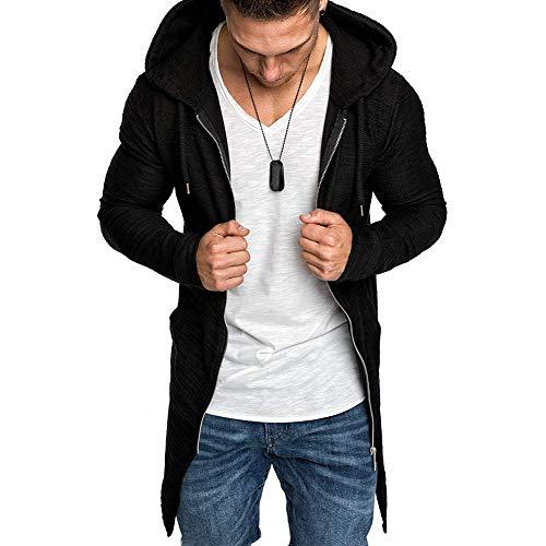 VANVENE Sudadera con capucha para hombre con cremallera completa, informal, de manga larga, ligera, talla M-3XL