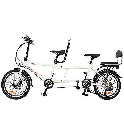 Vélo Tandem Unisexe, 8 Vitesses, Système De Frein À...