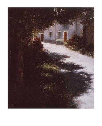 Germanposters Lutz Münzfeld Die Dorfstrasse Poster Bild Kunstdruck 50x40cm