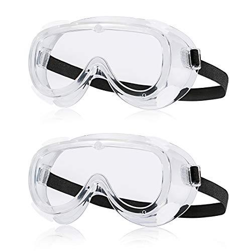 ゴーグル 保護メガネ 飛沫感染予防 飛沫対策眼鏡 軽量 透明 花粉症 オーバーグラス 保護用アイゴーグル 安全 防塵ゴーグル 通気性 防災ゲッズ 大人 子供用 2個セット