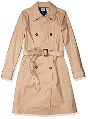 Tommy Hilfiger Women's Adaptive Trench Coat with Magnetic Closure, Travertine-PT, M from Tommy Hilfiger