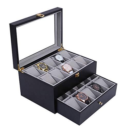 WZJ-Caja de Regalo Se Pueden Instalar 20 Relojes de Madera de Alta Capa de Alta Capa de Madera, Caja de visualización de protección de Almacenamiento de Reloj de Lujo (Color : B)