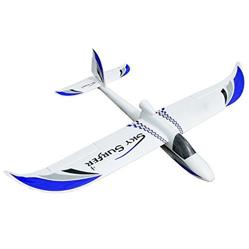 Sky Surfer Ferngesteuertes Modellflugzeug 140cm EPO PNP V2 blau Segler Modell Flugzeug R/C Fernsteuerung Flieger