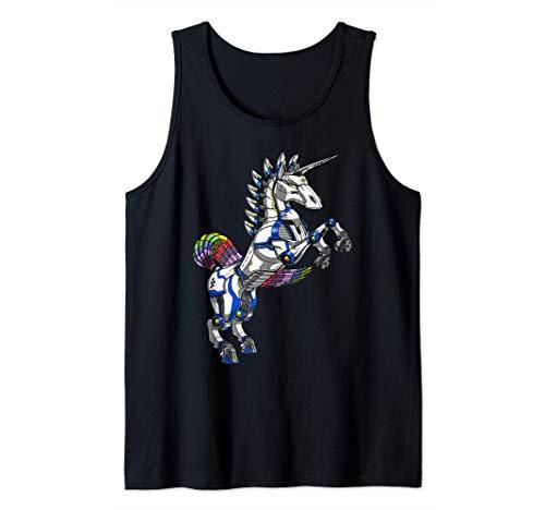 Unicornio Robot Futurista Monstruo Ciencia Ficción Niños Camiseta sin Mangas