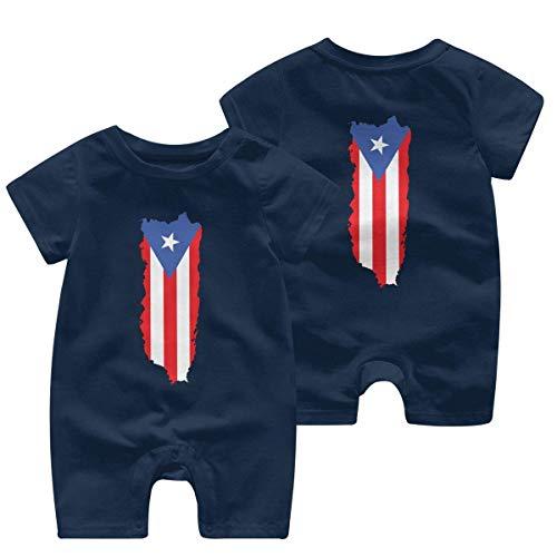 Body de manga corta RROOT con la bandera de Puerto Rico para bebé niño y niña, de 0 a 24 meses 1 color 2 Año