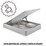 PIKOLIN, canapé abatible Gran Capacidad de almacenaje Color Blanco 150x190,...