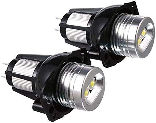 Bombilla de lámpara LED para automóvil 2 uds E90 Ojos de ángel Anillo de halo de luz LED Bombilla de marcador de 6W Blanco de xenón para luz de circulación de coche BMW 2020 Ojos de Ángel Upgrade