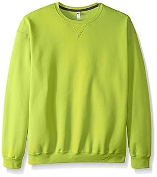 Fruit of the Loom Men s Fleece Crew Sweatshirt Citrus Green XXX-Large