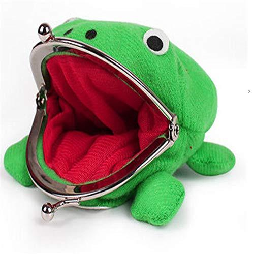 MUXIOM Anime Plush Frog Coin Purse, Frog Wallet Anime Cosplay Frog Coin Pouch Frog Change Pouch, Ninja Frog Coin Wallet