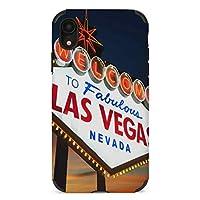 Welcome to The Las Vegas ラスベガスへようこそ iPhone XR ケース 対応 かっこいい おしゃれ ケース スマホ 携帯 高級感 超軽量 薄型 指紋防止 360°全面保護 擦り傷防止 耐衝撃 ストラップホール付き 滑り止め 黄変防止 6.1インチ