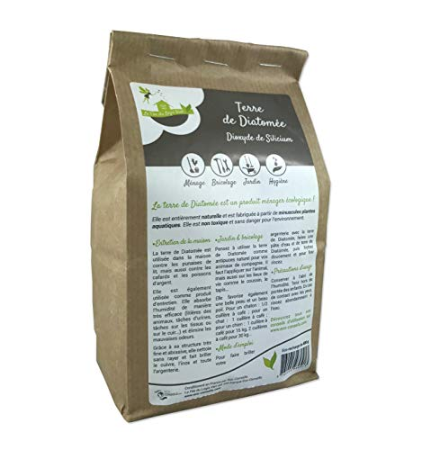 Eco-conseils® - Terre de diatomée Alimentaire (pour Animaux) 1Kg - Protecteur et Insecticide Alimentaire Biologique - Emballage 100% écologique … (1kg)