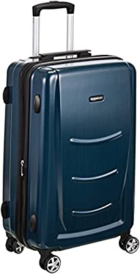 AmazonBasics Hardshell Spinner Luggage, Navy Blue