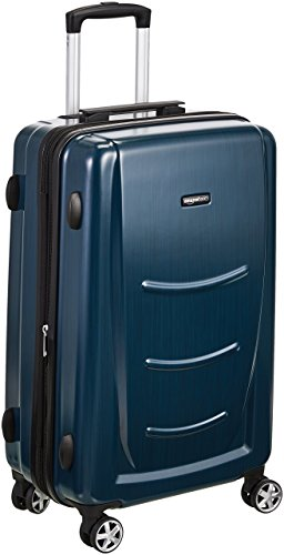 AmazonBasics Hard Shell Carry On Spinner Suitcase Luggage - 30.7 Inch, Navy Blue