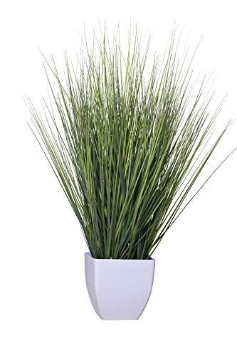 Vivanno Kunstgras Kunstpflanze im Topf Deko-Gras künstlich PALO grün (80 cm)