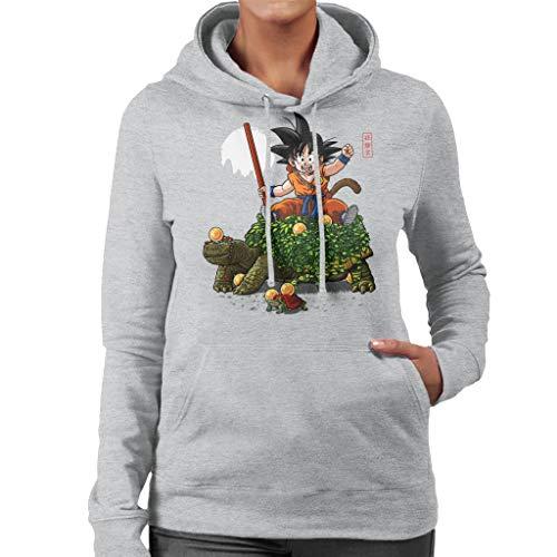 Cloud City 7 Dragon Ball Z Goku Riding Turtle Women's Hooded Sweatshirt