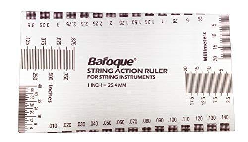 Galga multifunción para instrumentos de cuerda, medición métrica e imperial