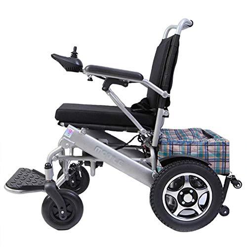 ZXMDP Elektrische rolstoel, licht en opvouwbaar frame, bediening in de rolstoel, draagbaar, reizen, chairfor, geschikt voor ouderen, lithium batterij van 13 Ah