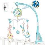 Luchild Baby Mobile per Culle con Musica, Giostrina Culla Neonato con Luce e Proiettore, Musica Culla Mobile per passeggino e culle, (0+ mesi)
