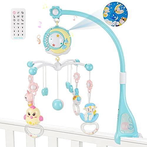 Luchild Móvil musical 3 en 1 para bebé con música, con luz nocturna, diseño de ositos de ensueño y proyector de luz de estrellas, equipamiento para bebés desde el nacimiento