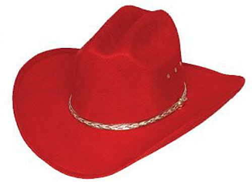 Western Child Red Faux Felt Cowgirl Hat
