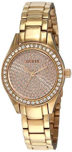 Guess Ladies Trend W0230L3 - Reloj analógico de Cuarzo para Mujer, Correa de Acero Inoxidable Color Oro Rosa