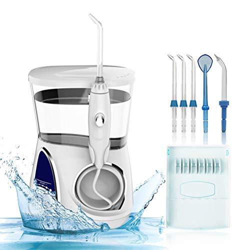 Desire Sky Munddusche für Zähne, kabellos, tragbar, elektrische Zahnreinigung, professionelle Munddusche mit DIY-Modi, Weiß