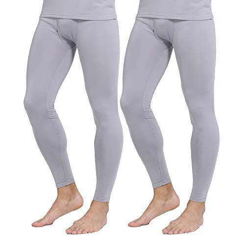 Yostylish Mens Thermal Underwear Bottoms Fleece Lined Pants Long Johns Leggings
