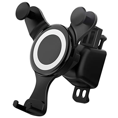 車載ホルダー マホホルダー 伸縮アーム クリップ式&吹き出し口 360度回転可能 多機種対応