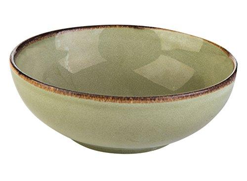 Müslischale Dessertschale Salatschüssel | Steinzeug | Grün | Ø 16,5 cm