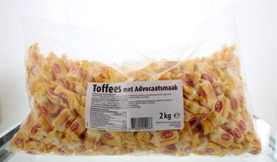 Van Melle Advocaat Toffees, 2000 g, 1 Units