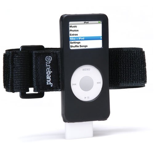 5bd5552c7a75a Grantwood Technology TuneBand for iPod Nano 1st/2nd Generation, Premium  Armband Compatible with Nike Plus iPod (Models A1137 and A1199), Black