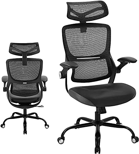 Ergonomic Office Chair High Back Mesh Desk Chair with Adjustable Armrest Height Rolling Executive Chair with Lumbar Support Swivel Computer Chair for Home Conference