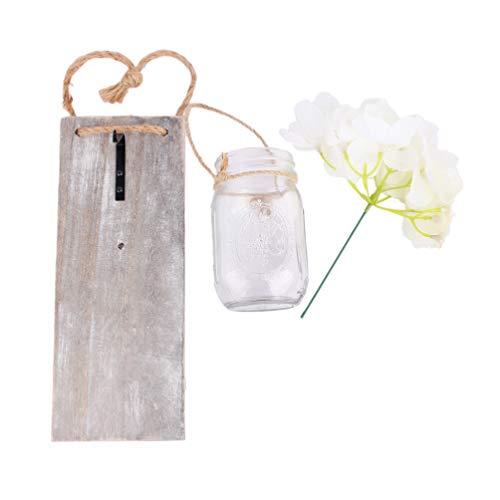 Uonlytech - Lámpara de pared rústica, diseño retro, con flores de seda, iluminación LED nocturna para decoración de jardín sin batería
