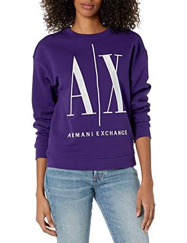 A|X Armani Exchange Women's Icon Logo Pullover Sweatshirt, Liz, S