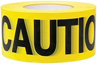 """Premium Yellow Caution Tape • 3 inch x 1000 feet • Bright Yellow w/ Bold Black Text • 3"""" wide for Maximum Readability • St..."""