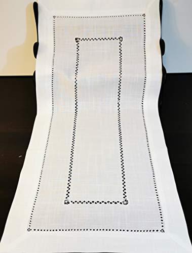 Camino de mesa con dobladillo hueco, fácil cuidado, 40 x 90