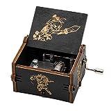 Evelure Caja de música de Madera Tallada a Mano, diseño de la Leyenda de Zelda (Black)
